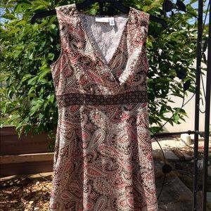 🥀 Croft Barrow printed faux wrap dress